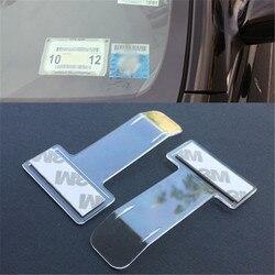 Clipe organizador do bilhete para estacionamento, prendedor para cartão, suporte de montagem, prendedor para-brisa, adesivos mayitr home office