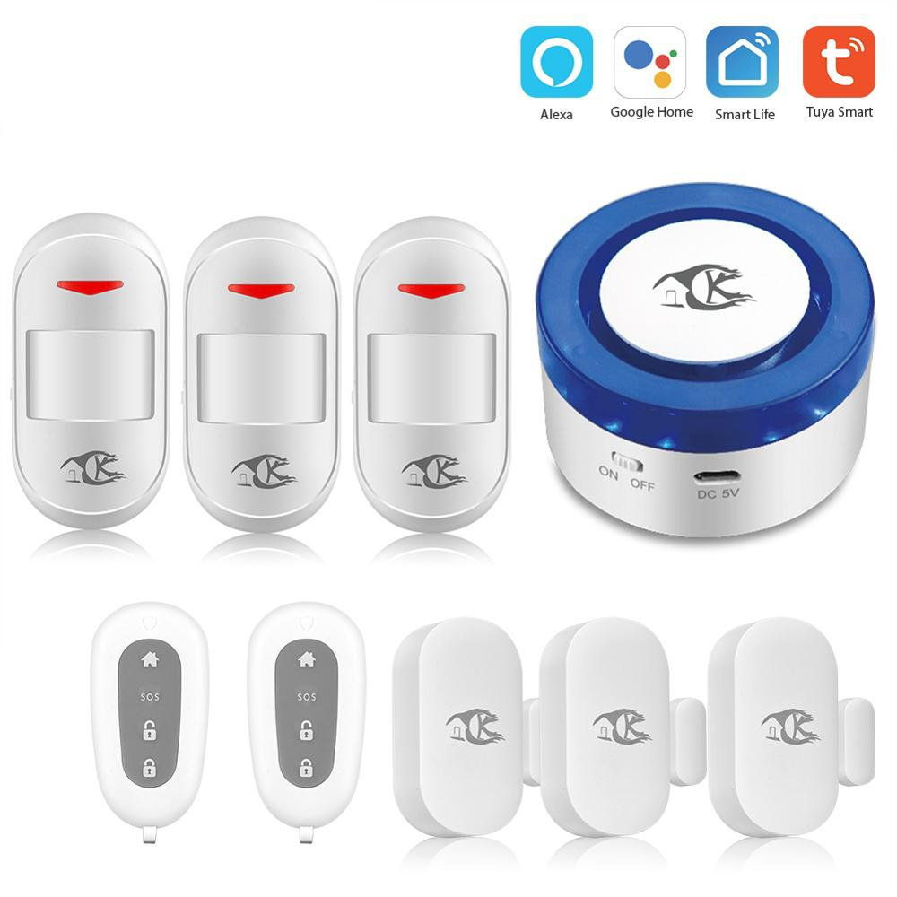 Tuya alarm security system Smart home WIFI Home Security Alarm System Tuya APP