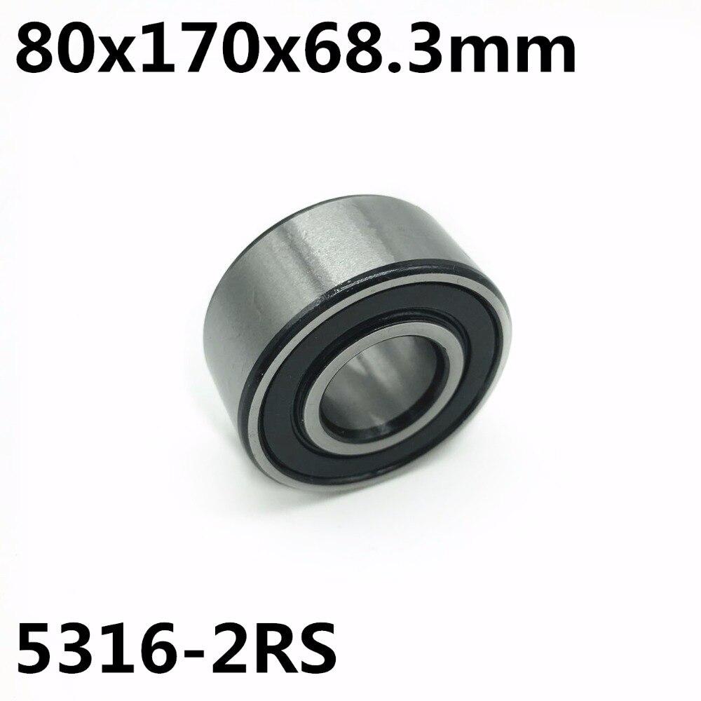 5316-2RS 80x170x68.3mm 1 pièces roulements à contact oblique à Deux rangées 5316 Haute qualité
