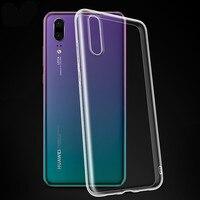 Para Huawei P30 caso P30 Lite caso suave para Huawei P20 P8 P9 P10 Mate 10 20 Lite P30 Pro P Smart 2019 Honor 8X claro|Fundas ajustadas| |  -