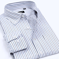 Free Shipping 2017 New Fashion Spring Autumn business thicker casual brand cotton men's shirt striped long-sleeved shirt camisas