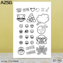 AZSG Round Small Expression Clear Stamps/Seals For DIY Scrapbooking/Card Making/Album Decorative Silicone Stamp Crafts