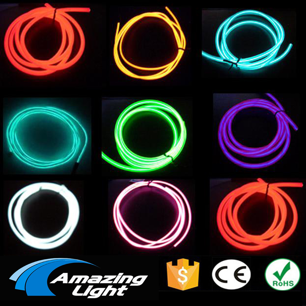2.3mm/3.2mm 100m EL wire/glow wire/cool flexible neon cable red yellow green blue purple white 1meter red 1meter black color silicon wire 10awg 12awg 14awg 16 awg flexible silicone wire for rc lipo battery connect cable