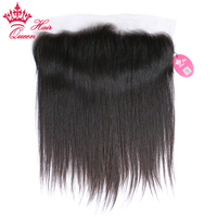 Queen Hair Products Lace Frontal Closure Virgin Straight 100 Human Hair