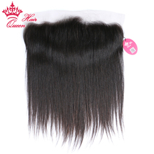 Queen Hair Brazilian Virgin Straight Hair 13×4 Lace Frontal Closure Natural Color 100% Human Hair Medium Brown Siwss Lace