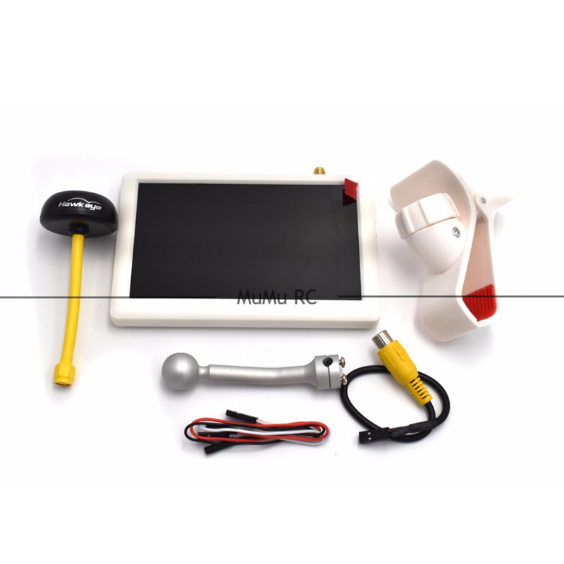 Sharp Vision Hawk eye Little Pilot White 5 Inch FPV Monitor Display Screen w/ 5.8G 32CH Receiver For RC Racing Frame Quadcopter