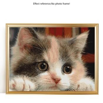 Evershine Diamond Painting Cat Full Round Drill Display Diamond Mosaic Animal Cross Stitch Kit Diamond