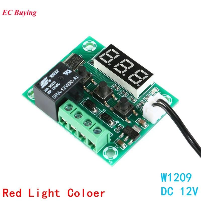 50-110°C Digital thermostat Temperature Control Switch sensor Module W1209 12V