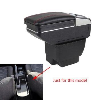Box bracciolo Per Mazda 2 Hatchback Auto Centro Scatola di Immagazzinaggio Con Il Supporto di Tazza Posacenere Stivaggio Riordino Bracciolo Girevole Car -per lo styling