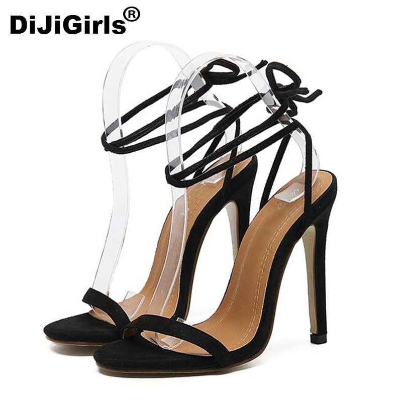 DiJiGirls Milan Fashion Show High heeled shoes Sexy elegance Roman style ladies sandals high quality women