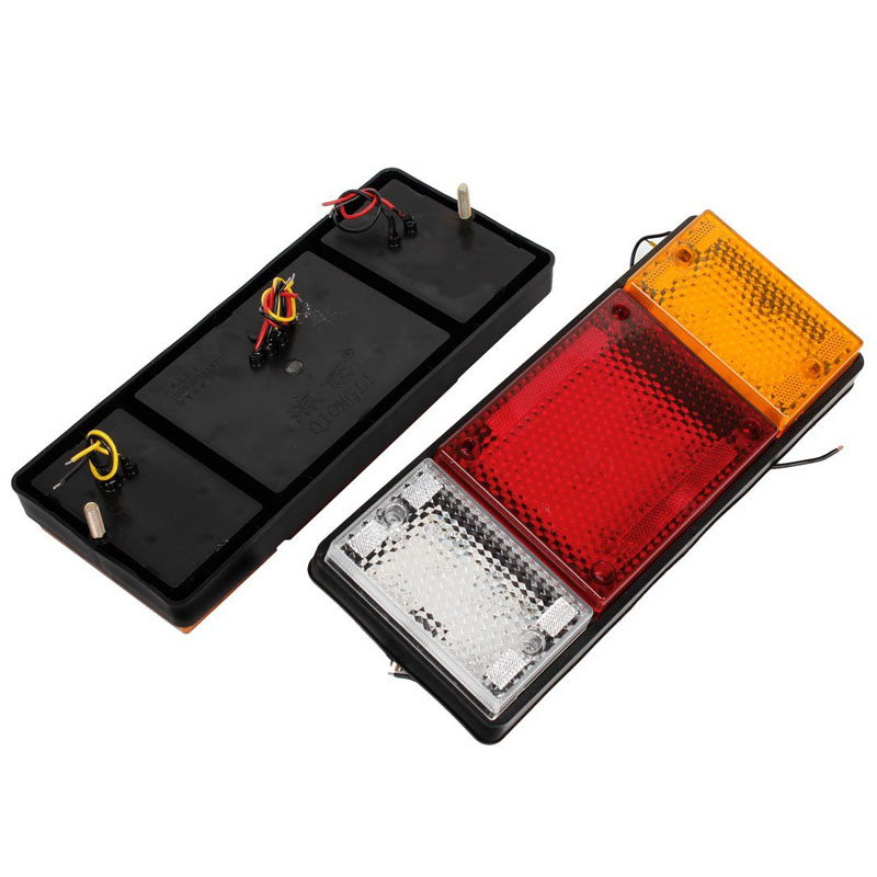 ZYHW Brand Yellow Red White 49 LED Right Left Rear Truck Lights 2pcs Truck LED Tail Lights 2pcs left