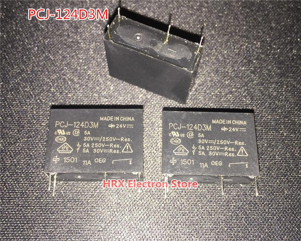 10PCS/LOT Relay PCJ-112D3M 12V PCJ-124D3M <font><b>24V</b></font> <font><b>5A</b></font> <font><b>4PIN</b></font> New Original image