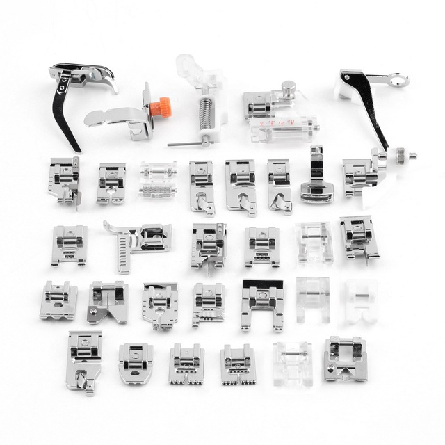 32Pcs Home Sewing Machine Feet Presser Good Domestic Sewing Machine Foot Feet Sew Accessories Kits For Brother Singer Janome