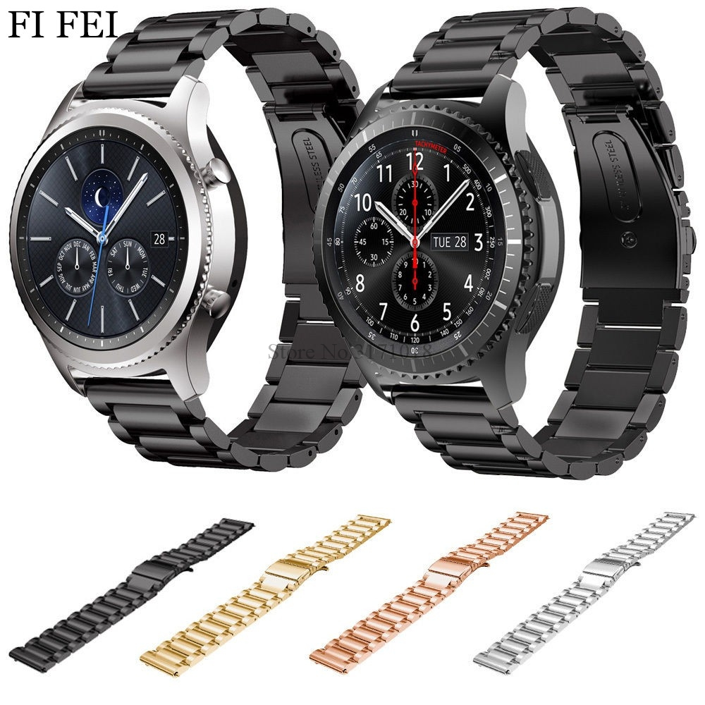 FI FEI Stainless Steel Watch Band for Samsung Gear S3 Frontier Strap for Gear S3 22mm Classic Smart Watch Bracelet Links 18 colors rubber wrist strap for samsung gear s3 frontier silicone watch band for samsung gear s3 classic bracelet band 22mm