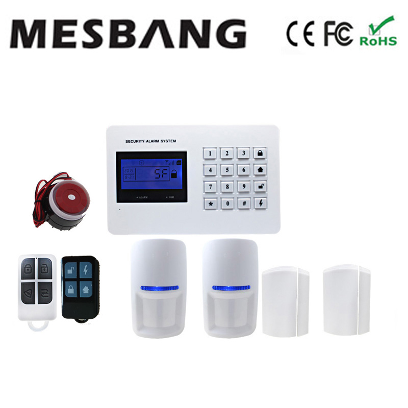 APP control wireless gsm alarm system and telephone security alarms system with Russian Spaish English language option