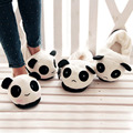 Women Men Cute Lovely Cartoon Indoor Panda Face Slippers Home Anti-slip Lover Winter Warm Household Thermal Homing Shoes Slipper