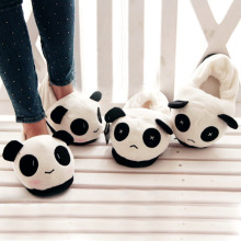 Women Men Cute Lovely Cartoon Indoor Panda Face Slippers Home Anti slip Lover Winter Warm Household