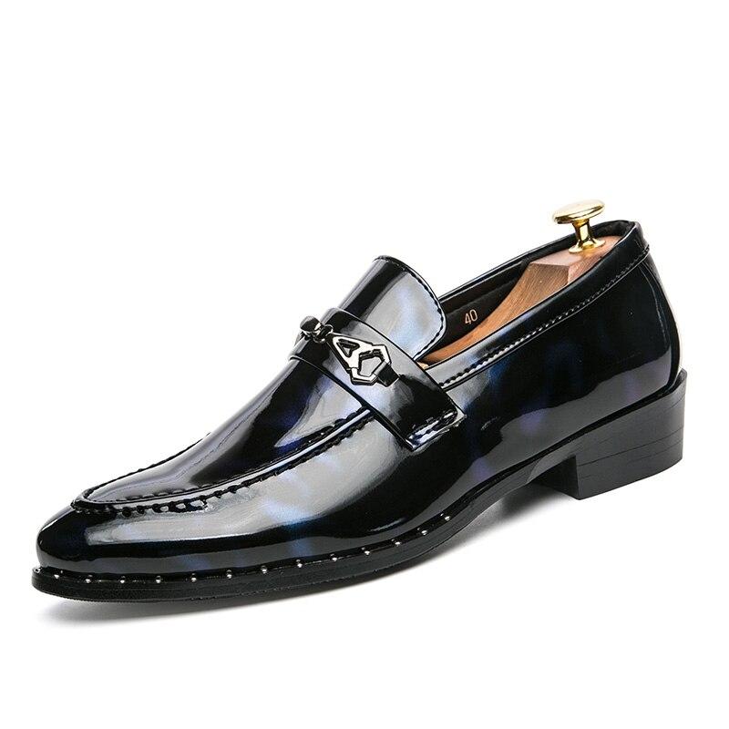 ZENVBNV 2018 luksusmärgiga mehed kingad Inglismaa Trend vaba aja - Meeste jalatsid - Foto 2