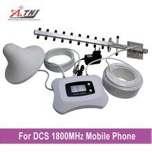 Nueva actualización!! 2g 4g DCS 1800 mhz celular repetidor de señal booster amplificador de señal 2g 4g móvil con pantalla LCD inteligente de 350m2