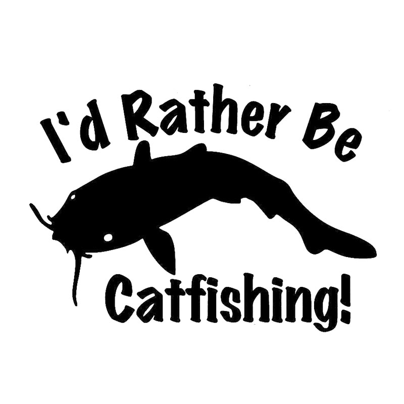 Compare prices on cartoon catfish online shopping buy low for Fishing car stickers