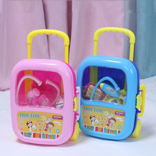 Huanger 23pcs Doctor Pretend Play Toys Luggage Juguetes for Child Medical Kid Baby Educational Box Light Role Gift Classic