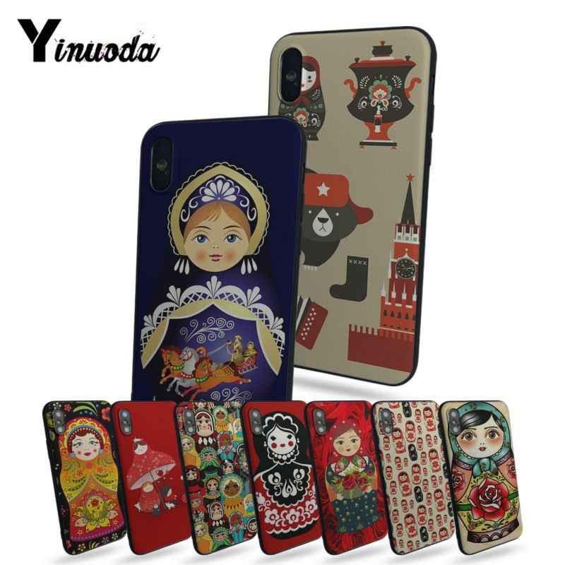 Yinuoda Bahasa Rusia Matryoshka Boneka TPU Phone Case untuk iPhone 6 6S 6Plus 6S Plus 7 7 Plus 8 8 PLUS 5 5 S 5C Case Cover