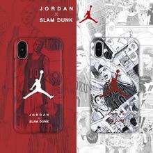 Купить с кэшбэком Jordan 23 Slam Dunk japan cartoon sports Soft cover case for iphone 6 6Plus 7 7 plus 8 8Plus X Hanamichi Sakuragi phone cases