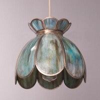 Новая классическая стеклопакет прозрачного стекла абажур цветок лотоса подвесной светильник ресторан бар гостиной обеденный спальня