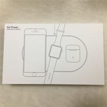 ثلاثة في واحد شاحن لاسلكي ل رسوم القوة الجوية apple watch بسرعة 5 V 2A ل فون 8 فون X xr xsmax اللاسلكية الارسال