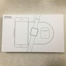 שלוש in one אלחוטי מטען עבור כוח אווירי apple watch במהירות חיובי 5 V 2A עבור iPhone 8 iPhone X xr xsmax אלחוטי משדר