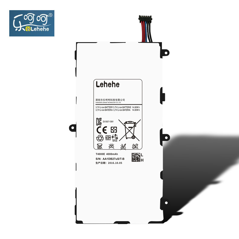 LEHEHE Battery For Samsung Galaxy Tab 3 7.0 SM T210 T211 T215 GT P3210 P3200 <font><b>T4000E</b></font> 4200mAh Battery Replacement Free Tools Gift image