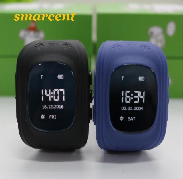 Smarcent Q50 GPS Relógio Inteligente bebê Crianças crianças Relógio de Pulso Do Telefone Inteligente GSM GPRS GPS Rastreador Localizador Anti-Perdido para iOS Android