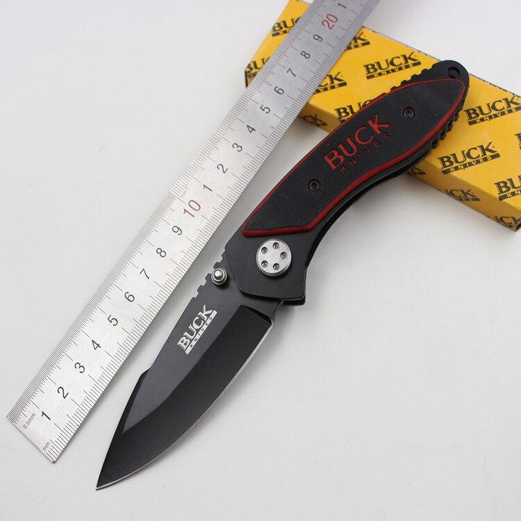 Self defense Folding Black Blade font b knife b font Handle G10 Pocket outdoor camping font