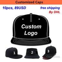 Wholesale 10PCS LOT 89USD Custom Snapback Baseball Cap Hat Adult Kid Men Women Print Embroidery Logo