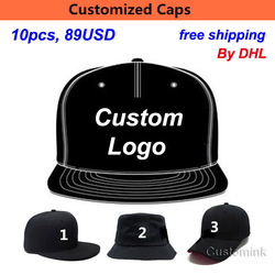 Custom Baseball Hat tourism Travel Fast Shipping Wholesale 10PCS/LOT Adult Kid 3D Embroidery Customize Cap Back Snap Custom Cap