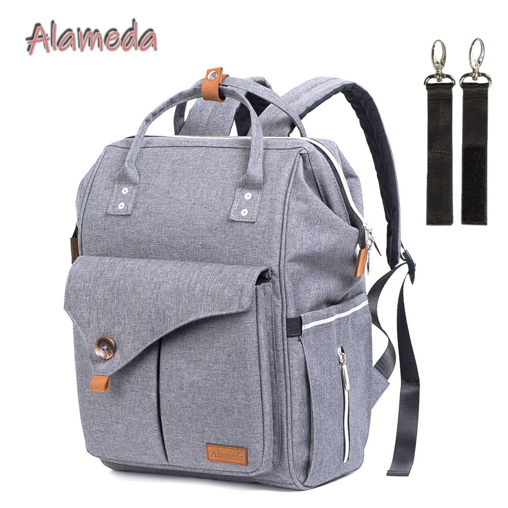 Alameda Multi-function Diaper Bag Mummy Maternity Bag Travel Backpack For Moms Baby Bag With Stroller Straps For Baby Care