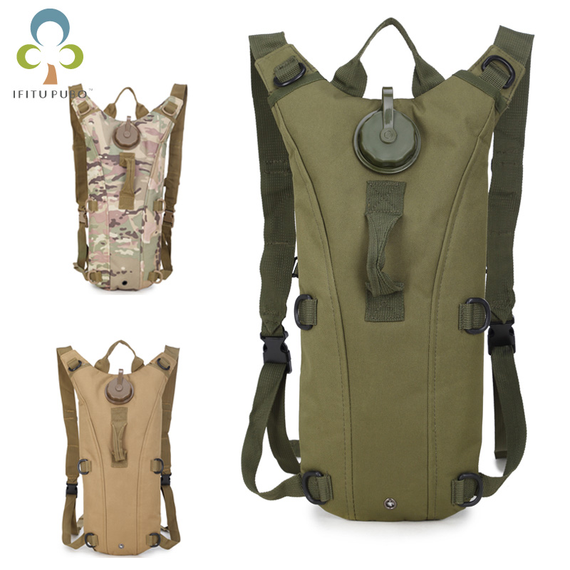 3L Water Bag, Molle Military Tactical Hydration Backpack, Outdoor Camping Camelback, Nylon Camel Water Bladder Bag WYQ