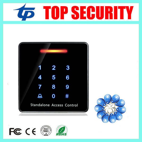 Good quality smart RFID card door access control reader touch waterproof keypad 125KHZ ID card single door access controller diysecur lcd 125khz rfid keypad password id card reader door access controller 10 free id key tag b100