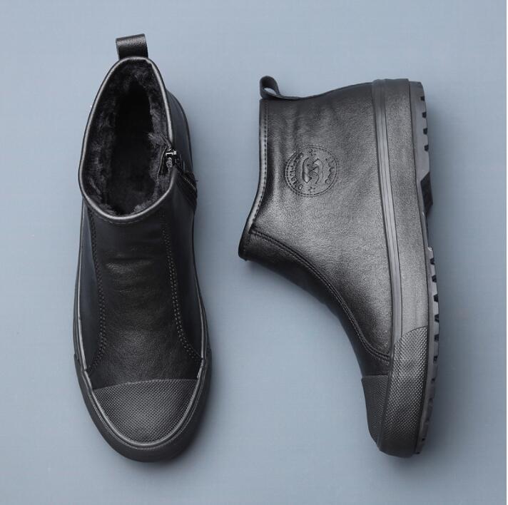 De Tendência Dois Inverno Além Selvagem 2 Homens Da Algodão Quente Sapatos Um Versão Veludo Dos Casuais 3 4 Coreana Pedal 1 qEB1Bpt