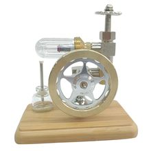 Stirling Engine Model Motor Power Wooden External Combustion Educational Science Toy Gift in Learning Machine For School Kids stirling engine micro engine external combustion engine metal model m16 01 02 d