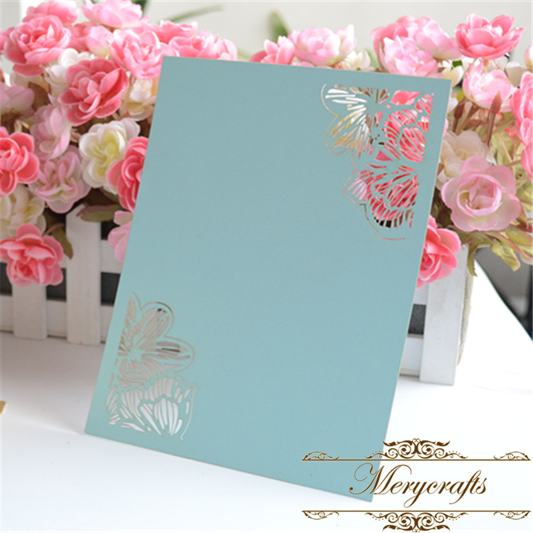 Us 9 99 12pcs Free Shipping Invitation Card Simple Design Laser Cut Flower Wedding Invitation Card In Cards Invitations From Home Garden On