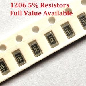 300pcs/lot SMD Chip Resistor 1206 0R/1R/1.1R/1.2R/1.3R/ 5% Resistance 0/1/1.1/1.2/1.3/Ohm Resistors 1R1 1R2 1R3 k Free Shipping