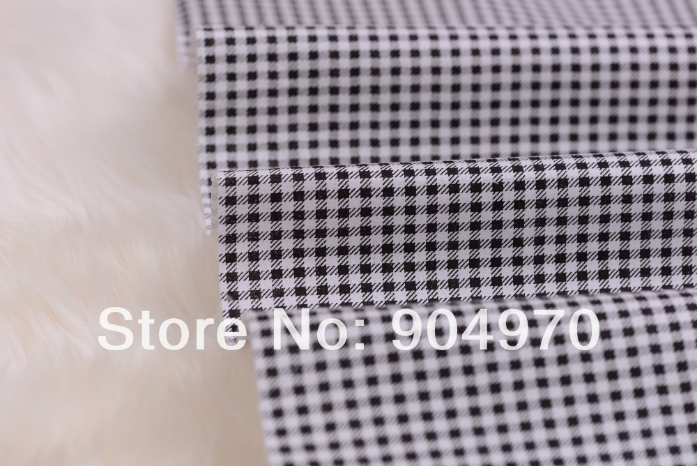 Black Quilting Bedding Patchwork Checks Plaid Fabric Baby Fabric Cotton Textile Kids 100% Cotton Fabric 160cmx50cm Lattice Good Reputation Over The World