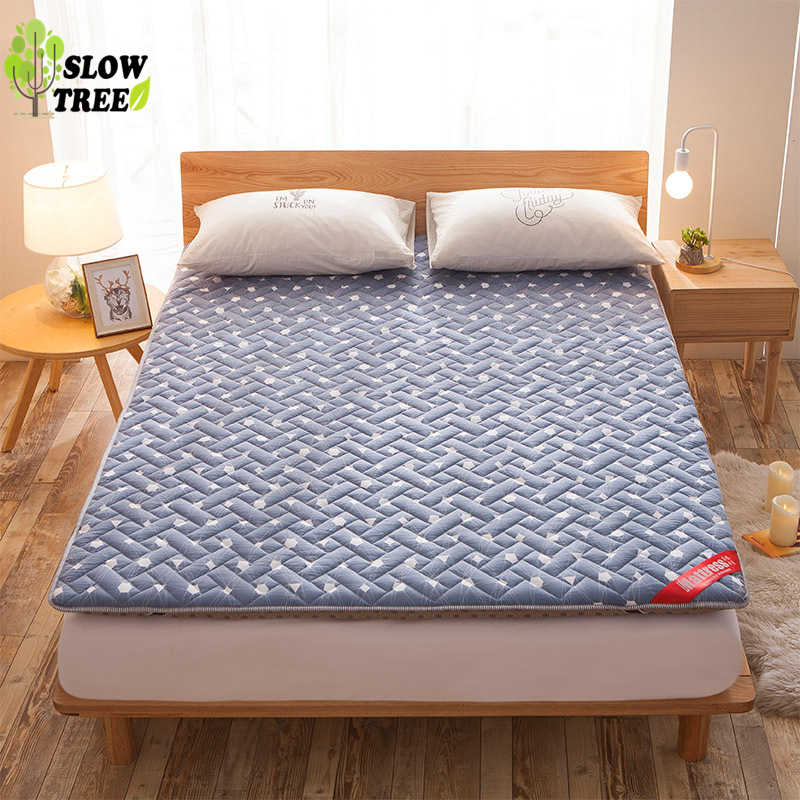 Slow Tree Tatami Queen Mattress Lazy Mats Washable Collapsible Matress for Living Room/Floor 6cm(2.3in) Thickness High Rebound