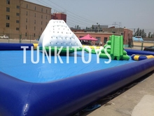 4.9m hot sell inflatable Water Iceberg for water park sports games