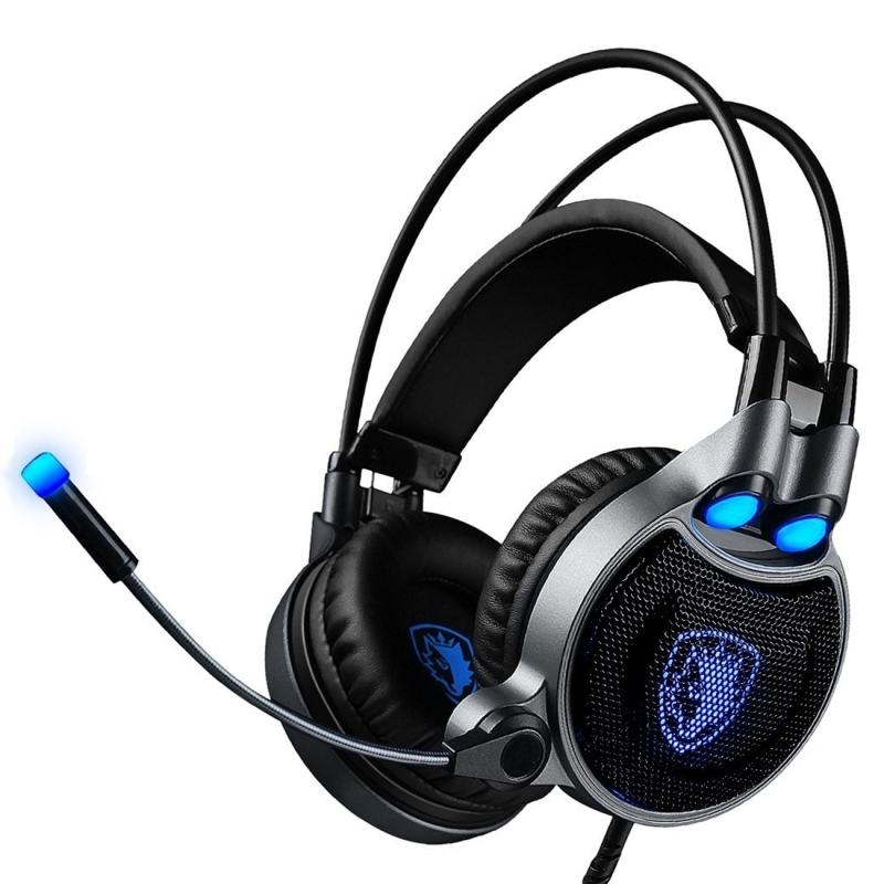 Gaming Headset 7.1 Professional Game Headphones MIC USB Channel Wired Headphone with Wire Control + Mic for PC Laptop