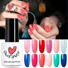 Gelfavor 7ml Lovely Color Series Nail Polish 60 Colors Nail Gel Lacquer UV LED Soak Off Nail Art Nail UV Gel polish