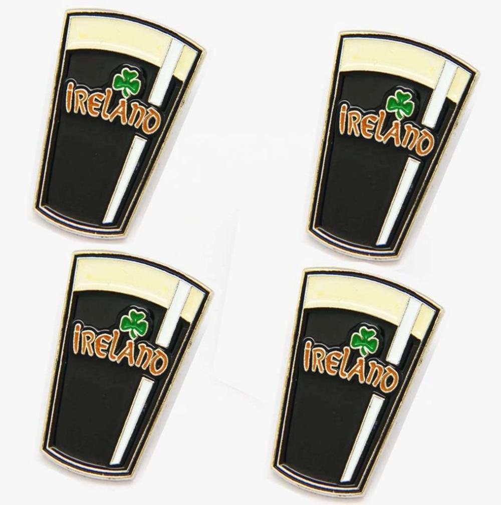 Stout Beer Badge Pin Metal Lapel Ireland Shamrock Irish