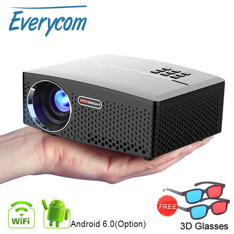 GP80 GP80UP LED Mini Portable Projector Home Theater Support Full HD 1080P 4K Optional Android Bluetooth