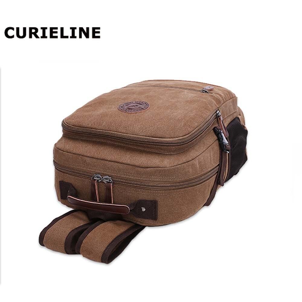 2019 new design large capacity laptop vintage canvas backpack wholesale black vintage backpack in Backpacks from Luggage Bags